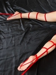 Bondage gallery featuring Natsuki Yokoyama and loads and loads of red rope