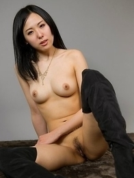 Slim and seductive Japanese babe Natsuki Yokoyama shows off that tight ass