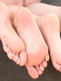 Aya Kisaki and Natsuki Yokoyama use their sexy feet to bring him to an orgasm