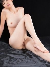 Leggy and lusty Anna Matsuda gets this dude to cum all over her sexy feet