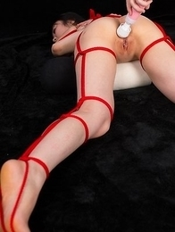 Yui Kawagoe gets bondaged up after getting her pantyhosed feet fucked