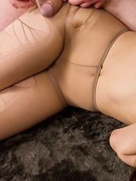 Pantyhose-wearing chick Yukari Toudou gets her legs fucked brutally right here