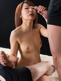 Ai Mizushima Gives Sticky Cum Covered Handjob