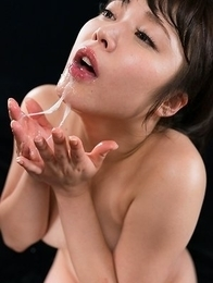 Yui Kawagoe Gives Sloppy Cum Covered Blowjob