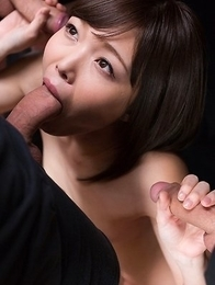 Shino Aoi Strokes with Cum
