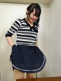 Hot Asian Risa Kurokawa takes panties off