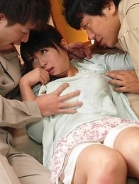 Nozomi Hazuki gets cum in mouth after sucking