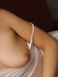 Chihiro Kitagawa squeezes big boobs and shows