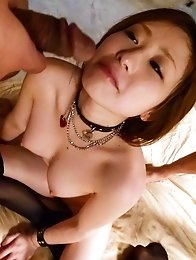 Ruri Haruka Asian gets fingers in love box and dongs in mouth