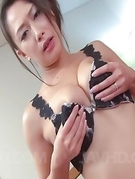 Yayoi Yanagida Asian has orgasm from vibrator while fondling tits