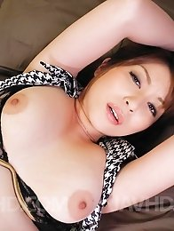 Araki Hitomi Asian busty has vagina filled with dick and dildo