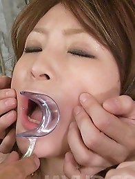 Rika Sakurai Asian gets cum in mouth through painful dispositive