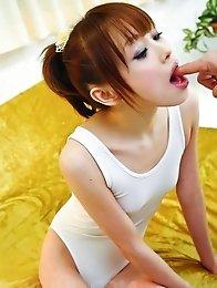 Miina Yoshihara Asian with push ups licks balls and boner head