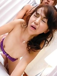 Hiroko Akaishi Asian topless gets sucked boner under bath suit