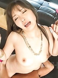 Haruka Oosawa Asian sucks dick after dick before is well nailed