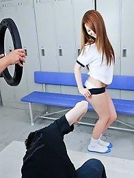 Sakamoto Hikari Asian takes photo of her hot body and sucks dick