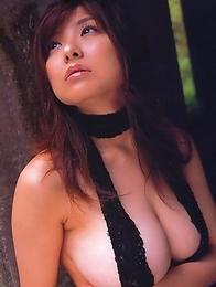 Miri Hanai shows bazoombas in different colorful bras