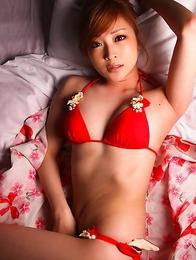 Natsuko Tatsumi takes geisha dress off and shows racy body