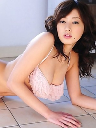 Natsuki Ikeda with big hooters looks so sexy on lingerie