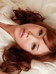 Hot Secretary Kurumi Kisaragi poses on the hotel room
