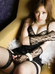 Ayaka Noda with sexy corset has big boobs and juicy behind