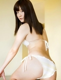 Anna Nakagawa shows hot body in tiny lingerie on furniture
